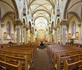Inside of the Saint Francis Cathedral Santa Fe, New Mexico